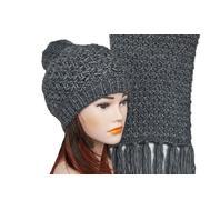 Комплект женский Tranini 5153 ART-1498E-1499S шапка+шарф