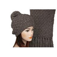 Комплект женский Tranini 5154 ART-1498E-1499S шапка+шарф