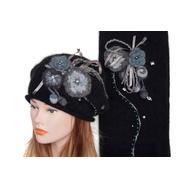 Комплект женский Tranini 0166 ART-MHBCK берет+шарф