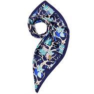 Платок женский шёлковый MIU MIU синий M0011