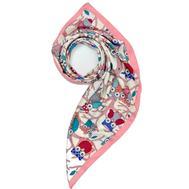 Платок женский шёлковый MIU MIU белый-розовый M0001