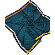 Женский платок шёлковый Louis Vuitton сине зеленый 00012