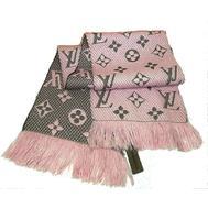 Шарф Louis Vuitton Logomania розовый 60005