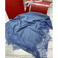 Платок шелковый Valentino 5020 голубой