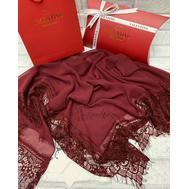 Платок шелковый Valentino 5014 бордовый