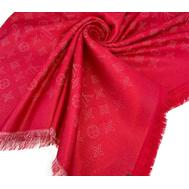 Платок Louis Vuitton женский красный с люреском 4012