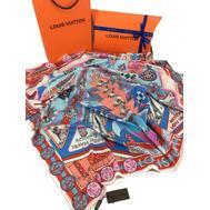 Женский платок шёлковый Louis Vuitton голубой 00003