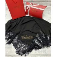 Платок шелковый Valentino 5019 черный