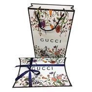 Комплект из пакета и подарочной коробки Gucci белый