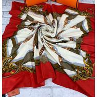 Платок HERMES женский красный 5151