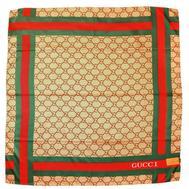 Шелковый женский платок Gucci бежевый 6028