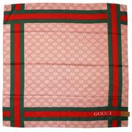 Шелковый женский платок Gucci розовый 6023