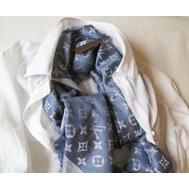 Платок Louis Vuitton синий с белым 1174