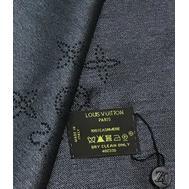 Платок Louis Vuitton женский чёрный с люрексом 4010