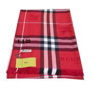 Палантин Burberry красный В0005