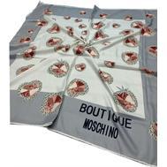 Платок шелковый женский Moschino серый 40003