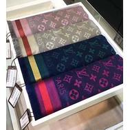 Платок Louis Vuitton синий 4001