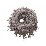 Шарф снуд крупной вязки Tranini 0052 ART-1529 из альпаки и шерсти