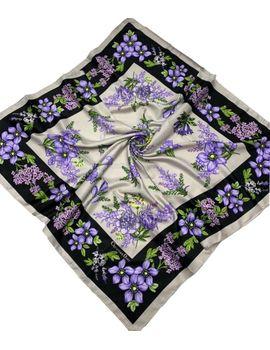 00de2c25cf05 Шелковый платок Dior 50004 черный с сиреневым
