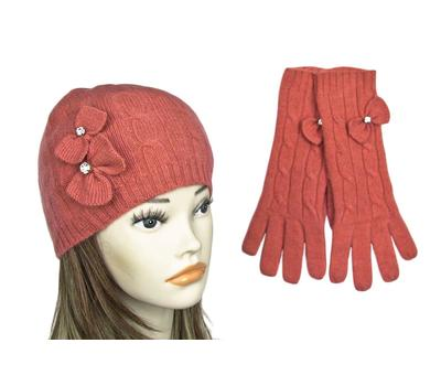 Шапка женская в комплекте с перчатками Tranini