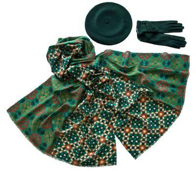 Комплект (берет, палантин, перчатки) Tranini 49011