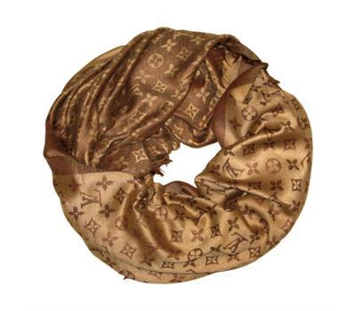 Платок Louis Vuitton коричнево-бежевый, 1134