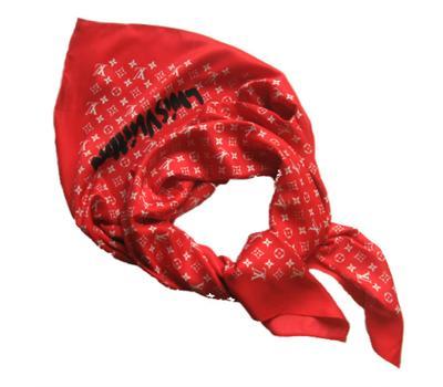 Платок шёлковый Louis Vuitton красный, 1133
