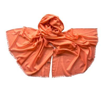Палантин Tranini 0653 оранжевый отделка люрексом