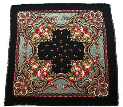 Платок шерстяной Tranini 0426 черный