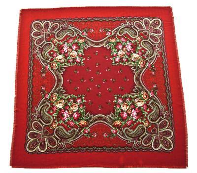 Платок шерстяной Tranini 0431 красный