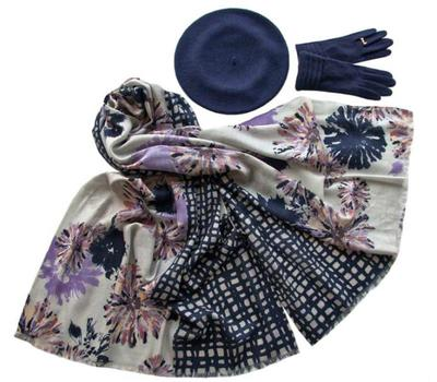 Комплект (берет, палантин, перчатки) Tranini 33003