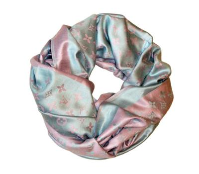 Платок Louis Vuitton розово-голубой 1162