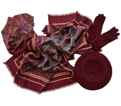 Комплект (берет, палантин, перчатки) Tranini 45001