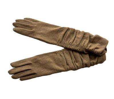 Перчатки шерстяные бежевые