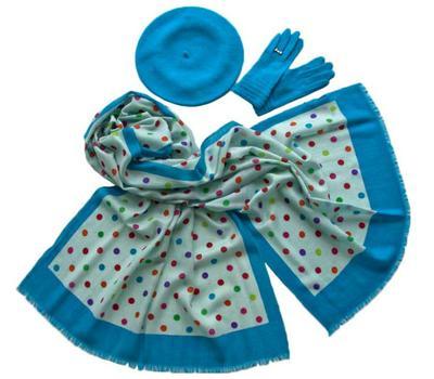 Комплект (берет, палантин, перчатки) Tranini 39002