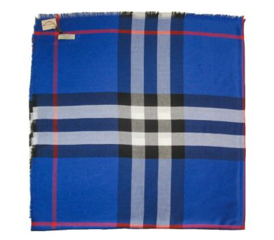 Платок Burberry яркий синий 2107