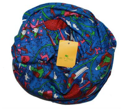 Платок женский шёлковый ETRO синий, ET0004