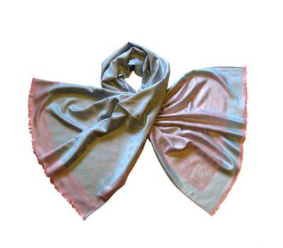 Палантин Louis Vuitton Monogram розово-голубой