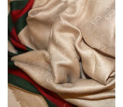 Платок Gucci бежевый 140х140