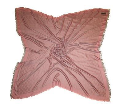 Платок Louis Vuitton розово-серый 140х140