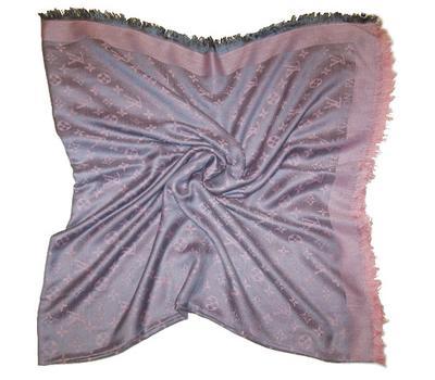 Шаль Louis Vuitton серый с нежно-розовым, 1154