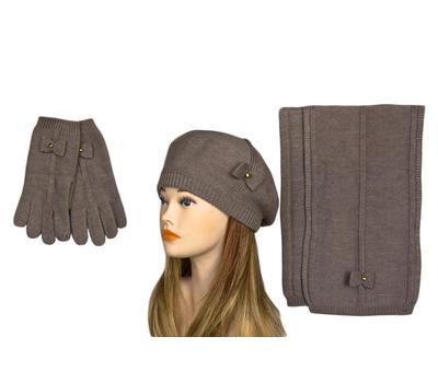 Комплект женский Tranini 2122 ART-017 шапка+шарф