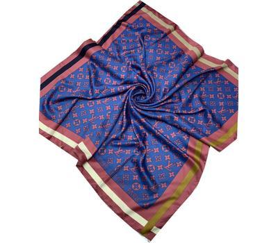 Женский платок шёлковый Louis Vuitton синий 00010