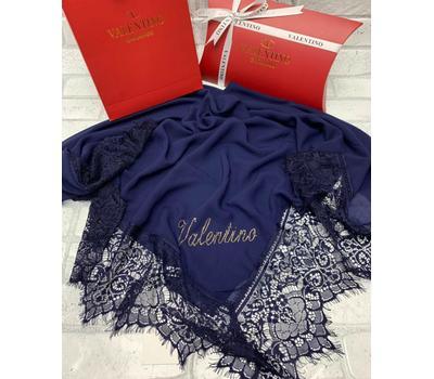 Платок шелковый Valentino 5015 синий