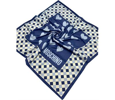 Платок шелковый женский Moschino голубой 40009