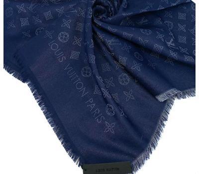Платок Louis Vuitton женский синий с люреском 4016