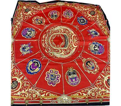 Шелковый платок женский HERMES красный 7110