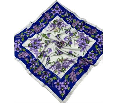 Шелковый платок Dior 50001синий