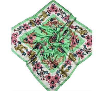 Шелковый платок Dior 50003 зеленый