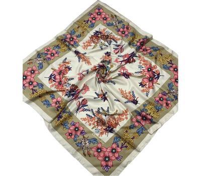 Шелковый платок Dior 50002 бежевый